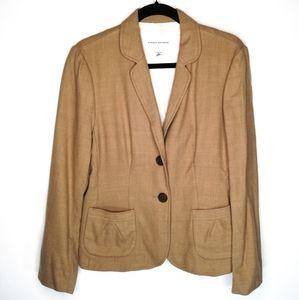 Banana Republic Camel Stretch Wool Blazer Jacket